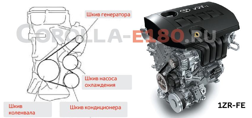 ремень генератора 90916W2018 тойота королла 2013, 2014, 2015 двигатель 1NZ-FE