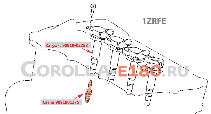 свечи зажигания для тойота королла 2013-2015 г.в.
