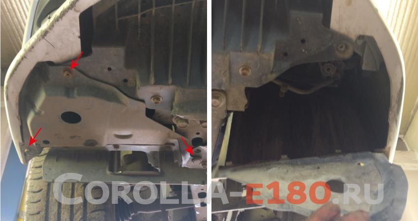 замена лампы h16 в ПТФ Toyota Corolla 180